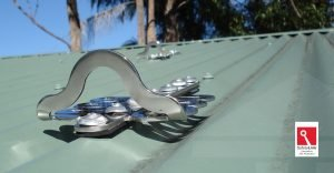 Froglink - Anchor point safety GRD Gutter Cleaning - Installation to Colorbond roof